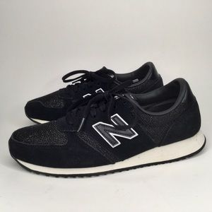 New balance black sparkling sneakers.